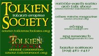 Ea Tolkien Society upcoming meeting reminder for September 18th, 2021